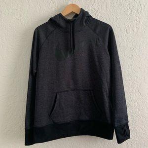 Nike Gray & Black Therma-Fit Hoodie Large